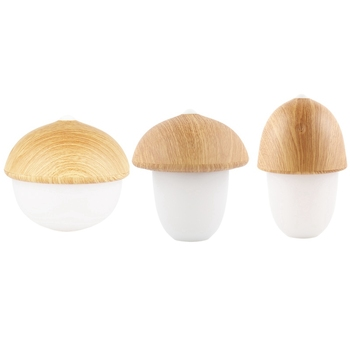 3Pcs Wood Mushroom Led Light Dimmable Silicone Night Child Baby Gift Mood