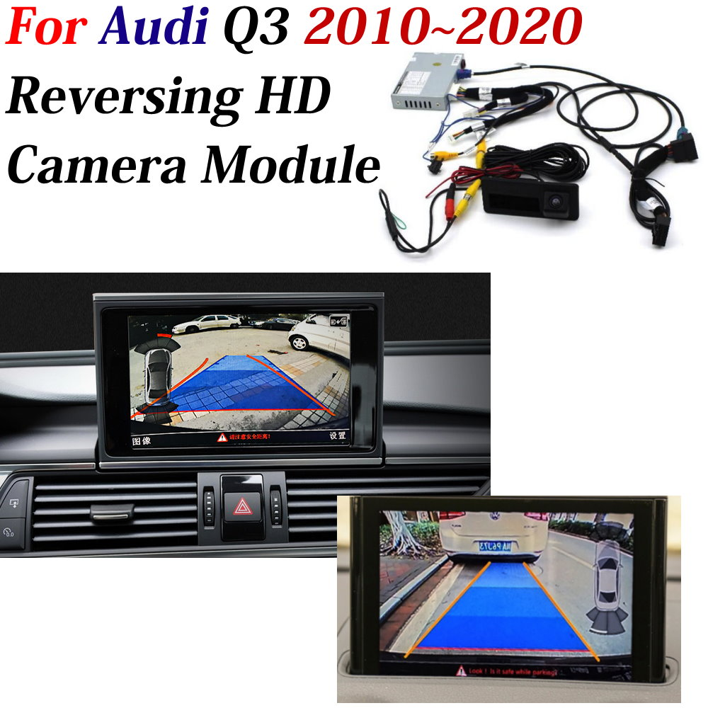 AUTO CAM DVR Decoder For <font><b>Audi</b></font> <font><b>Q3</b></font> 2010-2016 2017 2018 2019 2020 Car 360 Front Rear <font><b>Camera</b></font> Original Screen Upgrade Parking <font><b>Camera</b></font> image