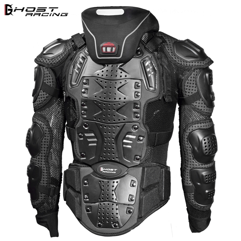 GHOST RACING Snowboard Jacket Men Full Body Armor Jacket Motocross Racing Protective Gear Back Chest Shoullder Elbow Protection