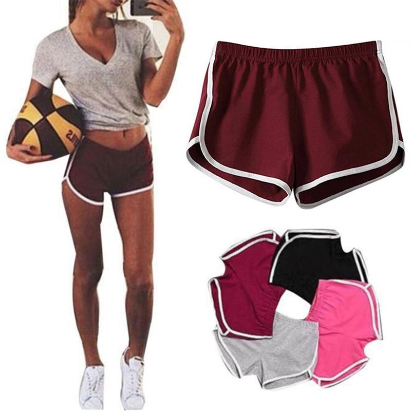 Women Sports Shorts Gym Workout Waistband Running Jogging Summer Beach Short Pants Plus Size S-XXL