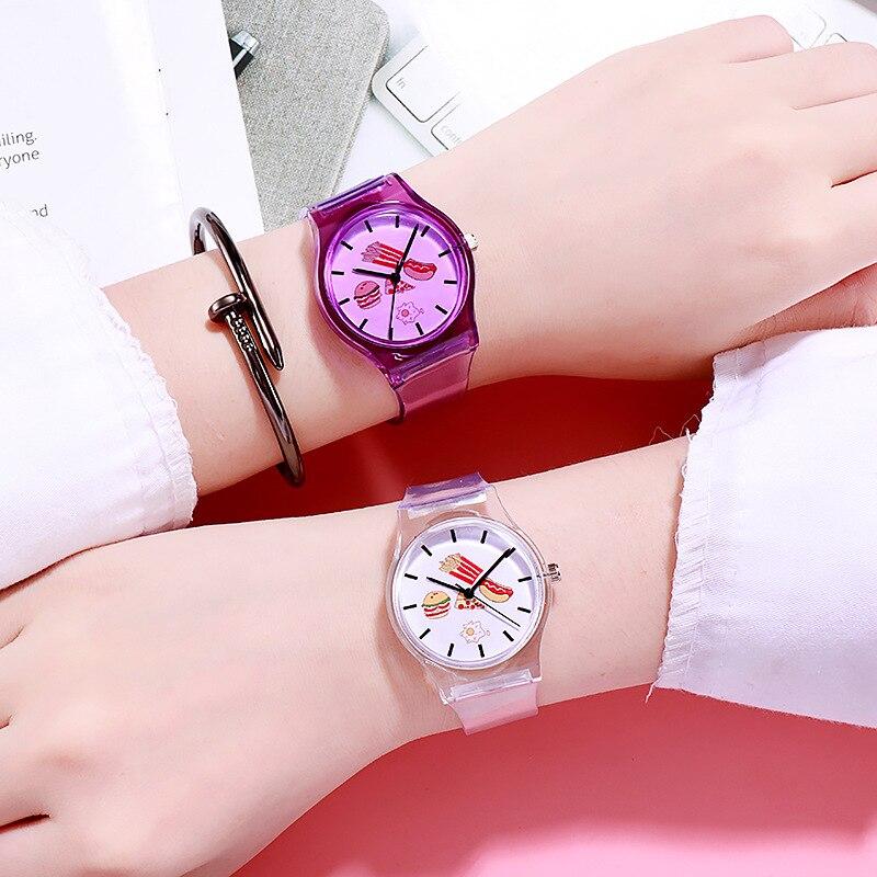 New Children Watch Black Cake Bread Women Watches Luxury Exquisite Girls Boys Clock Kids Quartz Wristwatches Relogio Feminino