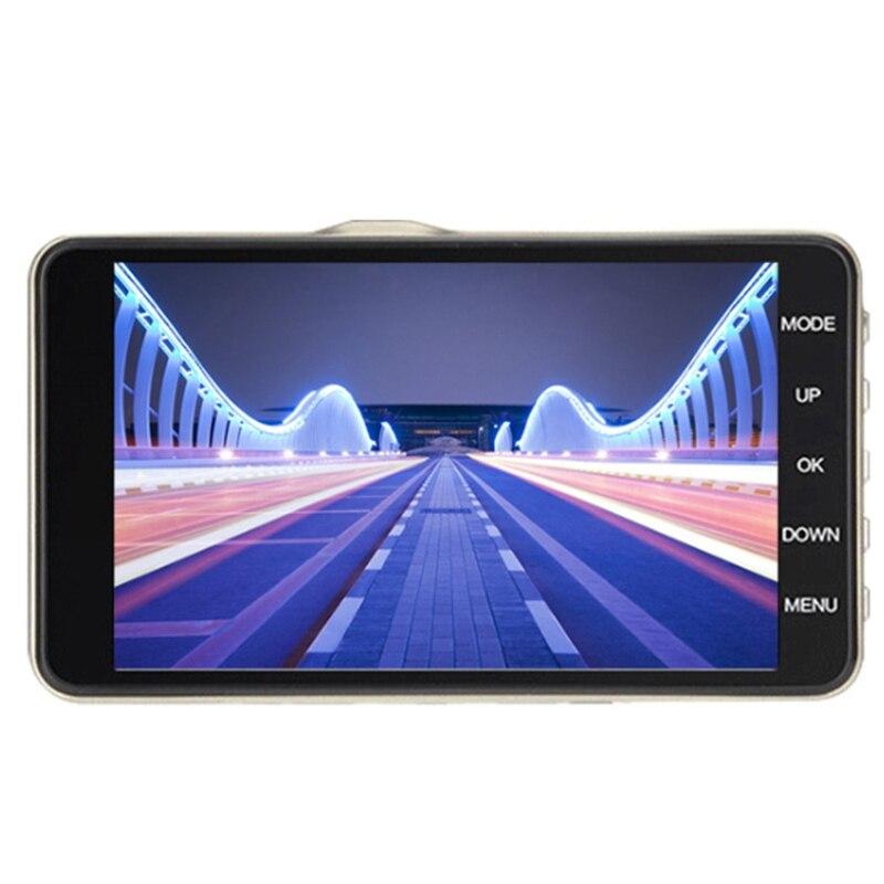 4 Lcd Ips Двойной объектив Автомобильный видеорегистратор Fhd 1080P Dashboard камера 170 для вождения автомобиля Dvr