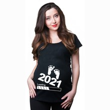 Printing-Tops Pregnant-T-Shirts Now-Loading Maternity-Tees Baby Short-Sleeve Women Summer