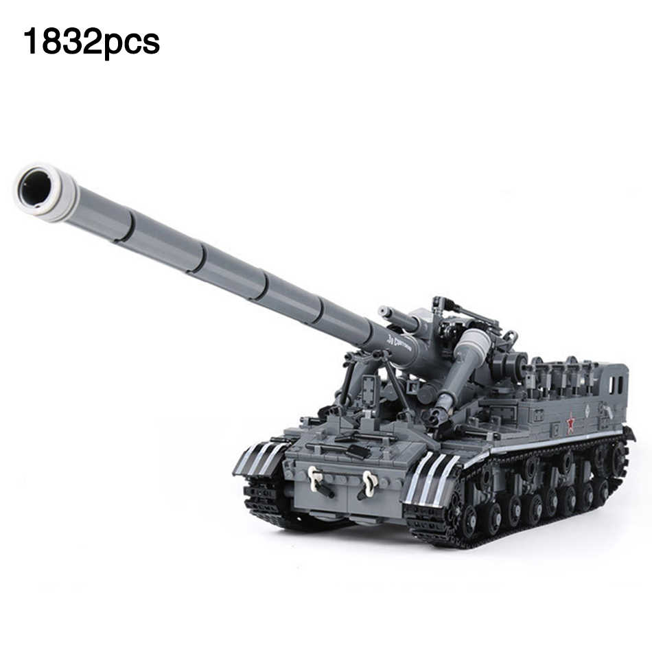 Military Series T92 Tank Track legoingly Army Tank Minifigs Soldier Figures Weapon Guns Building Blocks Toys For Children Gifts