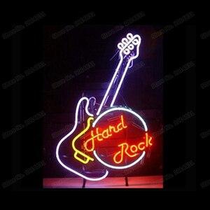 Đá Cứng Đàn Guitar Chơi Nhạc Neon Ký Tùy Chỉnh Thủ Công Kính Thực Ống Thanh Buổi Hòa Nhạc Cho Tiệc Màn Hình Neon Dấu Hiệu 15