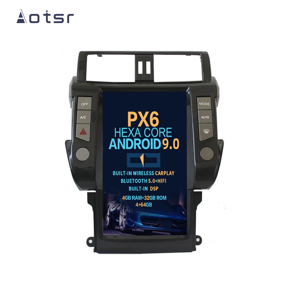"Aotsr 13.6"" Vertical screen Android 9 <font><b>Car</b></font> DVD Multimedia player GPS <font><b>For</b></font> <font><b>Toyota</b></font> Land Cruiser <font><b>Prado</b></font> <font><b>150</b></font> <font><b>2010</b></font> - 2013 DSP Carplay image"