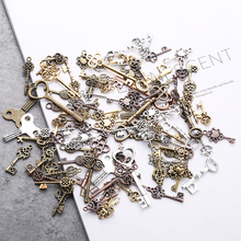 Charms Vintage Pendant Steampunk Mixed-Keys Zinc-Alloy Bronze Metal 20pcs for Fine-Trendy