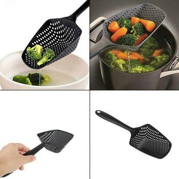 Soup Filter Cooking Shovel Vegetable Strainer Scoop Nylon Spoon High temperature pressure resistant Kitchen Strainer Tools 2
