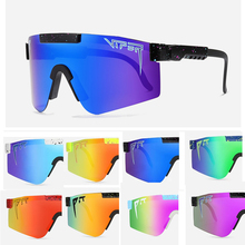 2021 NEW BRAND Mirrored Green lens pit viper Sunglasses polarized men sport goggle tr90 frame uv400 protection with case