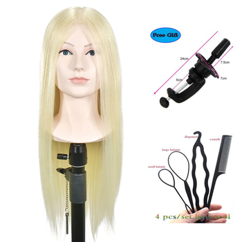 "20"" Blonde Hair Training Head With Shoulder High Grade Hairdressing Head Nice Dummy Manequim Long Hair Mannequin Head"