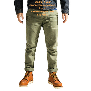 Chino-0001 mans one washed cotton casual quality chino pants 3 colours фото
