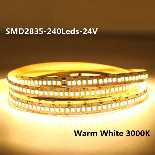 2835 Светодиодный светильник полосы 12 V 24V ленты белый 600 светодиодный s 1200 светодиодный s 5 м 24V 12 V светодиодный полосы светильник ing 12 V веревочк...