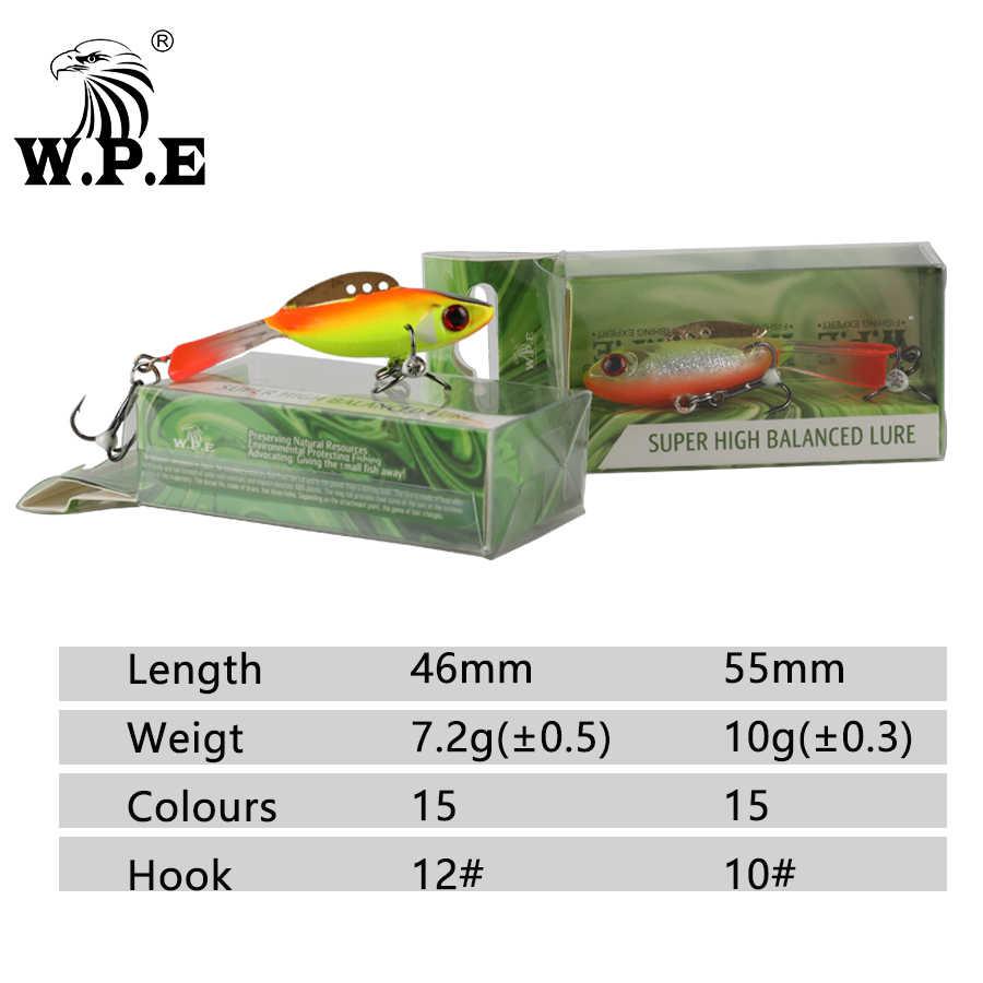 W.P.E น้ำแข็งฤดูหนาวตกปลาล่อ 1pcs 46mm/55mm 15 สี Hard Lure Balancer ตกปลาตะกั่ว jigging เหยื่อประดิษฐ์สำหรับน้ำแข็ง