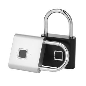 Image 2 - Smart Fingerprint Padlock Lock USB Rechargeable IP65 Waterproof No App Lock indoor and outdoor for Lockers Bags Luggages Storage