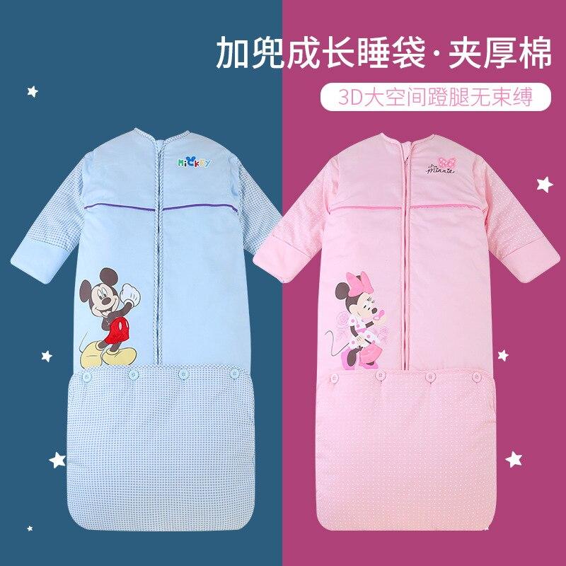 Original Disney Winter Cotton Baby Sleeping Bag Thickened Children Envelope Bag  Sleeping Bag Baby Baby Sleeping Bag