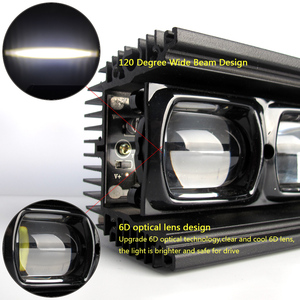 Image 4 - 6D עדשת Led אור בר מכביש עבור 4x4 Offroad 4WD טרקטורונים UAZ משאיות טרקטור סירת 12V 24V נהיגה עבודה Barra אורות רכב Retrofit