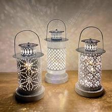FENGRISE żelazo wydrążona lampa świecznik projektor LED na noc światło nietypowe oświetlenie dekoracja do życia lampa domowa prezent tanie tanio CN (pochodzenie) W8029 Nowość Żarówki led HOLIDAY