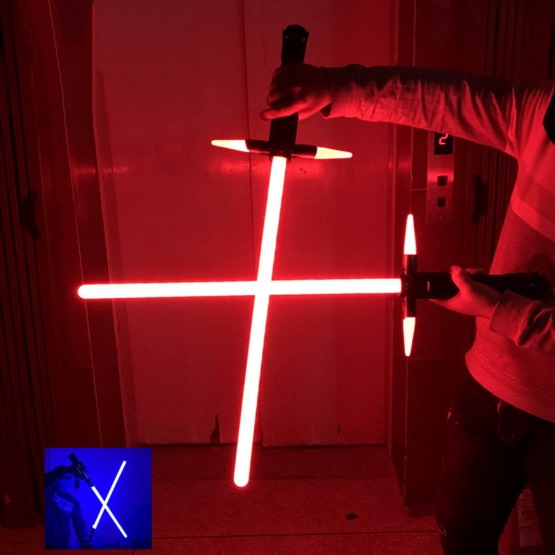 Plastic Lightsaber Jedi Sith Luke Light Saber RGB Laser Cosplay Toy Luminous Outdoor Creative Wars Knife Sword Stick Weapon Toy