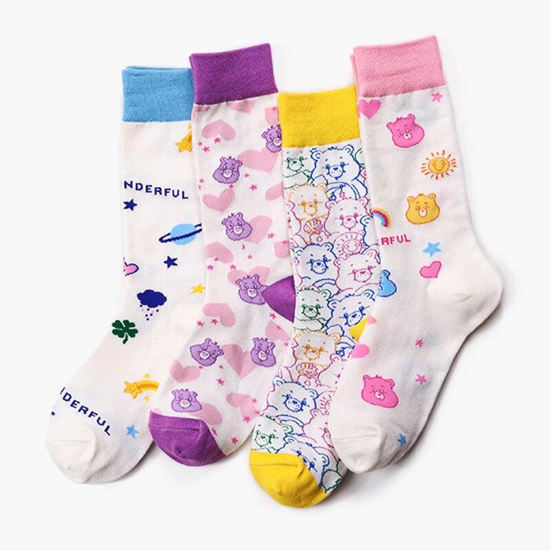 Creative Winter Cotton Bear Animal Breathable Cute Women Streetwear Short  Men Sock Warm Funny Short Kawaii Happy Ankle Socks