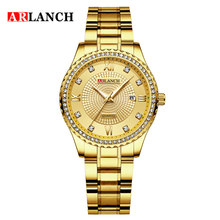 2020 New ARLANCH Women Watches Golden Stainless Steel Exquis