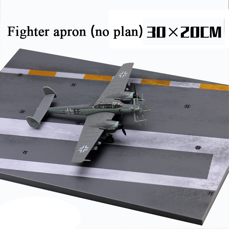 1:72 Wooden Fighter Platform 1:144 Aircraft Runway 3D Model Sand Table Simulation Deck Miniature Military Scene