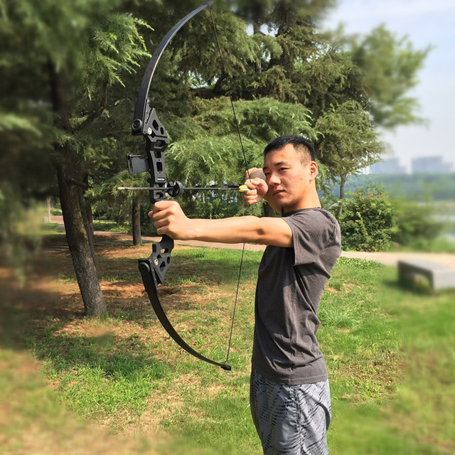 30-50lbs Straight Bow Powerful Archery Recurve Bow Hot Selling Professional Bow Arrows For Outdoor Hunting Shooting Competition 5