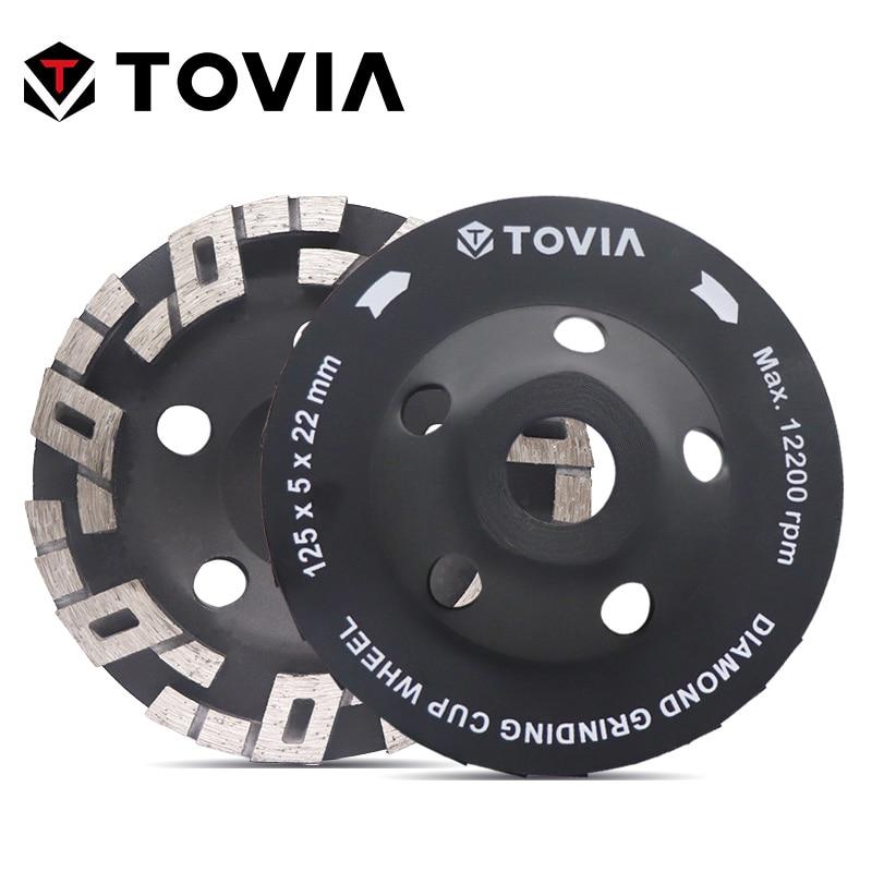 TOVIA 125mm Diamond Grinding Wheel Polishing Stone Grinding Wheels For Angle Grinder Stone Granite Marble Polish Disc