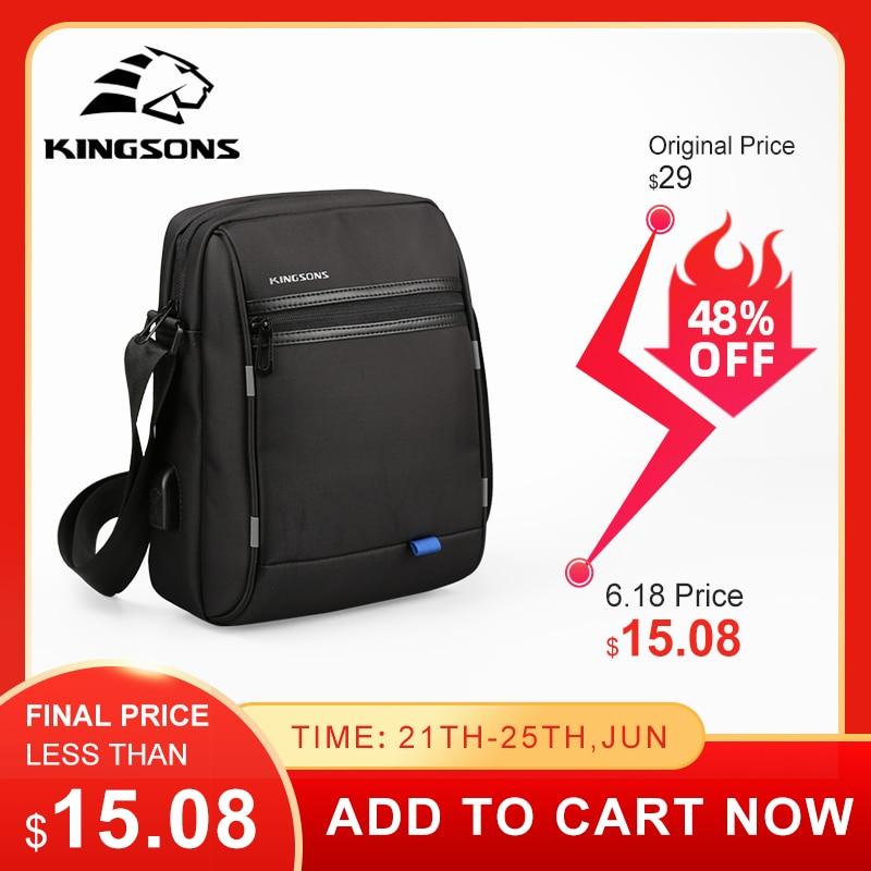 Kingsons Famous Brand Shoulder Bag Casual Business Messenger Bags Vintage Crossbody Bag Bolsas Male Shoulder Bags