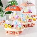 28Pcs Lustige Spielen Haus Spiel Eis Supermarkt Einkaufen Mini Wagen Pretend Spielen Spielzeug Für Mädchen Kinder Pädagogisches Spielzeug geschenk