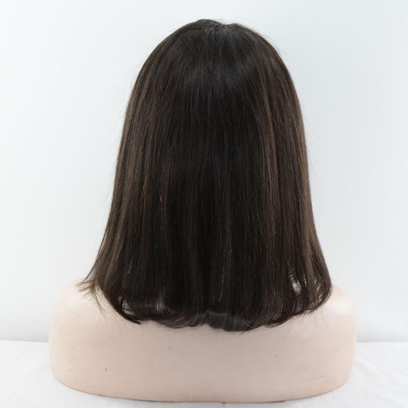 Mmuxuno 130% densidade do cabelo humano 13*4