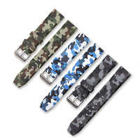 20mm 22mm 24mm Silicone Watchband Sport Camo Printed Rubber Waterproof Replacement Bracelet Band Strap Watch Accessories