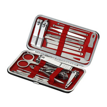 Wholesale Professional Stainless Steel Nail Clipper Cutter Trimmer Ear Pick Grooming Kit Manicure Pedicure Toe Nail Tools Set