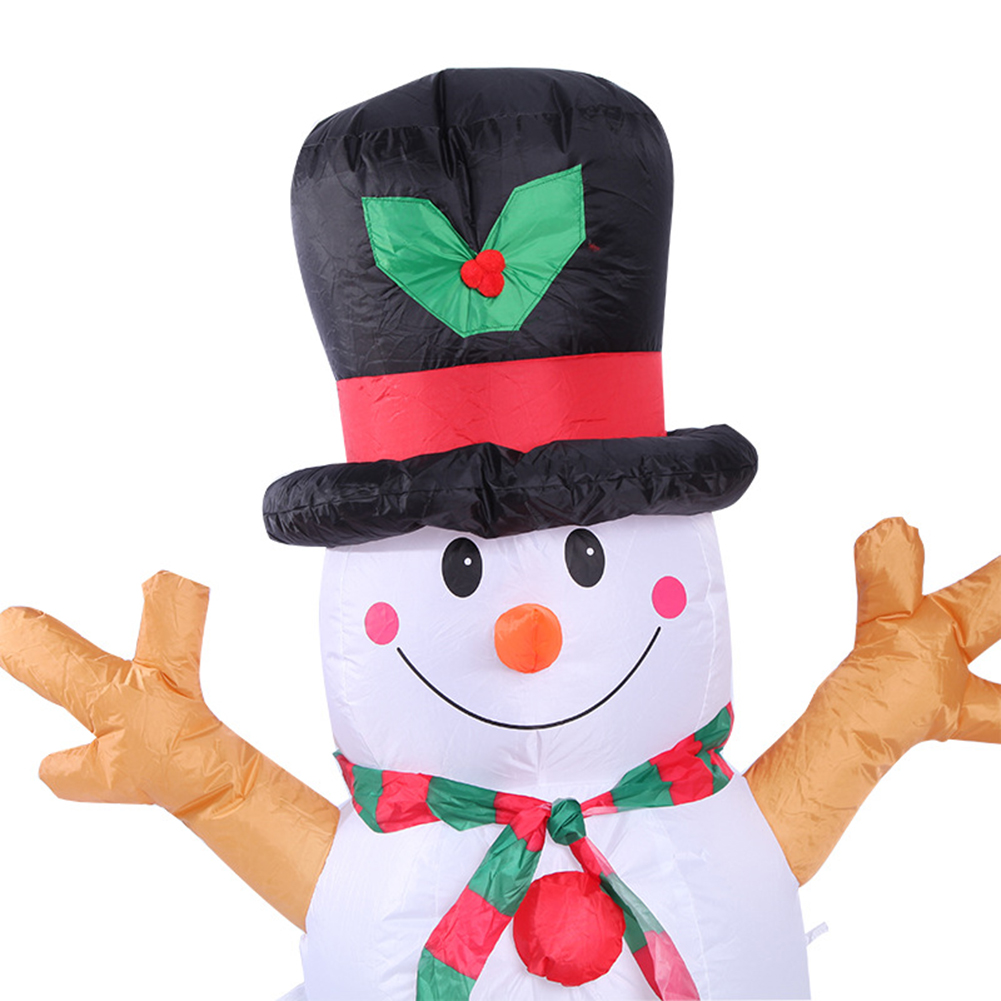 Image 5 - 1.6M Christmas Lighted Inflatable Snowman Dolls Outdoor Garden  Yard Decoration Christmas Inflatable Props with LED LightsPendant
