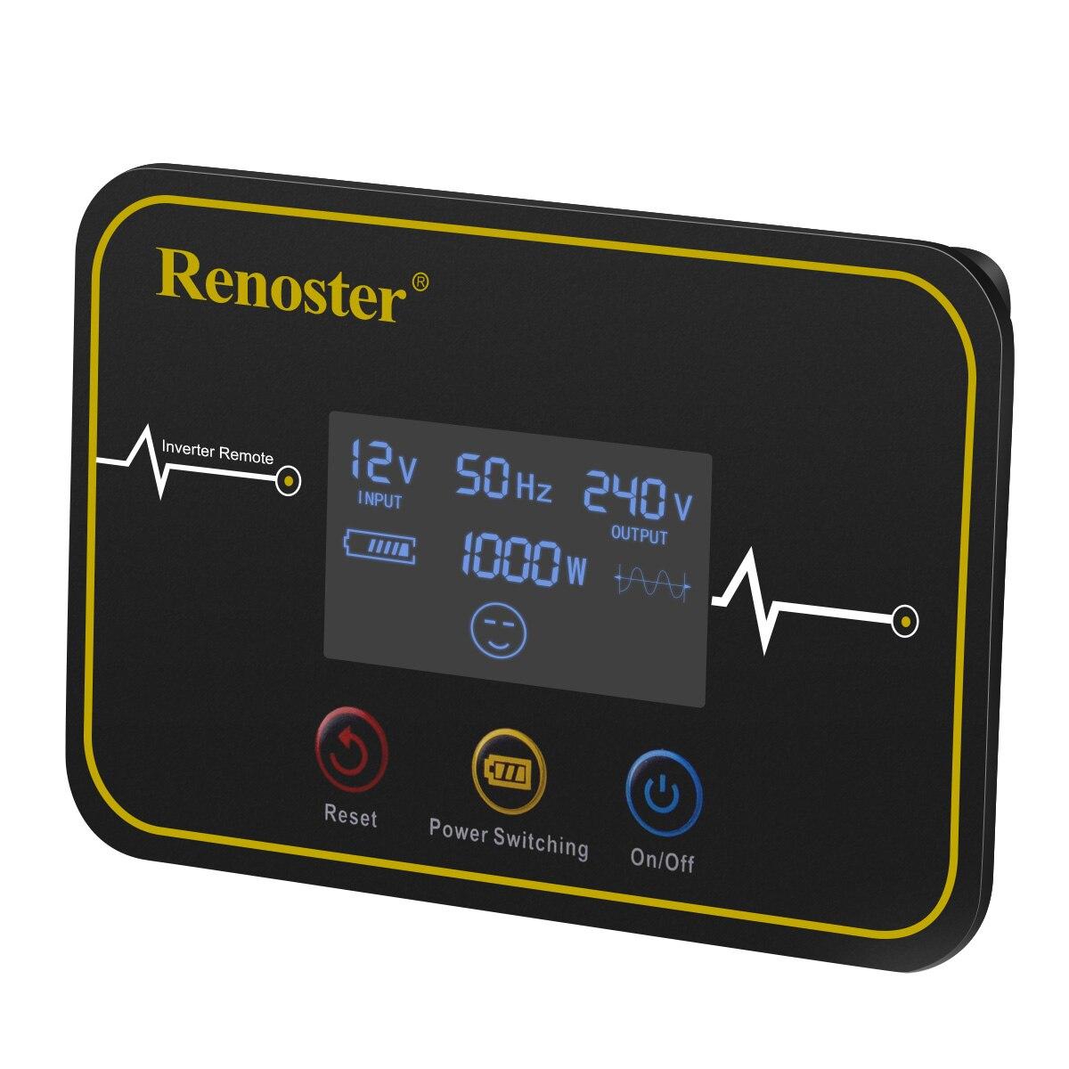 Renoster wireless power inverter 3000/6000w konverter 12V 220V modifizierte sinus welle solar-wechselrichter mit fernbedienung control comverter