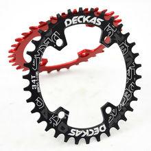 DECKAS MTB plato 96BCD S estrecho anillo de cadena ancha 32 38T bicicleta de carretera rueda de cadena REDONDA/ovalada ajuste SHIMANO XT,SLX