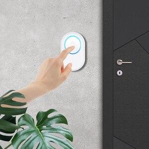 Image 2 - Wifi 초인종 경보 시스템 지능형 무선 초인종 스트로브 Tuyasmart app 58 사운드 호환 433MHz 무선 감지기