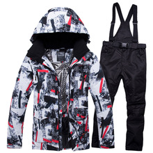 2019 New Winter Ski Suit Men Set Windproof Waterproof Warm Skiing Snowboarding Suits Set Male Outdoor Hot Ski jacket And Pants цены онлайн