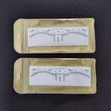 100 قطعة اكسسوارات الوشم القابل للتصرف ثلاثية الأبعاد الحاجب حاكم ملصق قياس تشكيل Stencil تجميل دائم Microblading لوازم