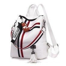 BELLELIFE Trend PU Leather Backpack for Women Zipper Backpacks Ladies Crossbody Bag School Female Shoulder Bags Teenager