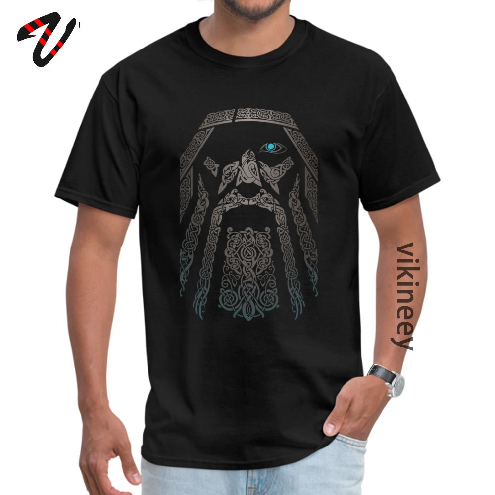 Odin Vkings Go Valhalla Tops Shirts Cool Faddish Mens Casual Tshirt Print 100% Cotton Men T-Shirt Personalized T Shirt Wholesale image