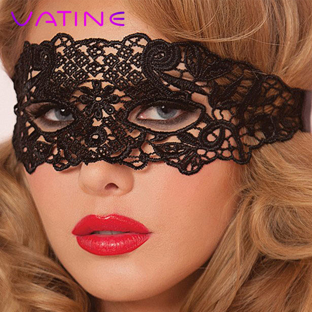 VATINE Women Lace Eye Mask Erotic Toys Costume Gothic Black Nightclub Dance Party Mask Mysterious Sex Toys For Couple