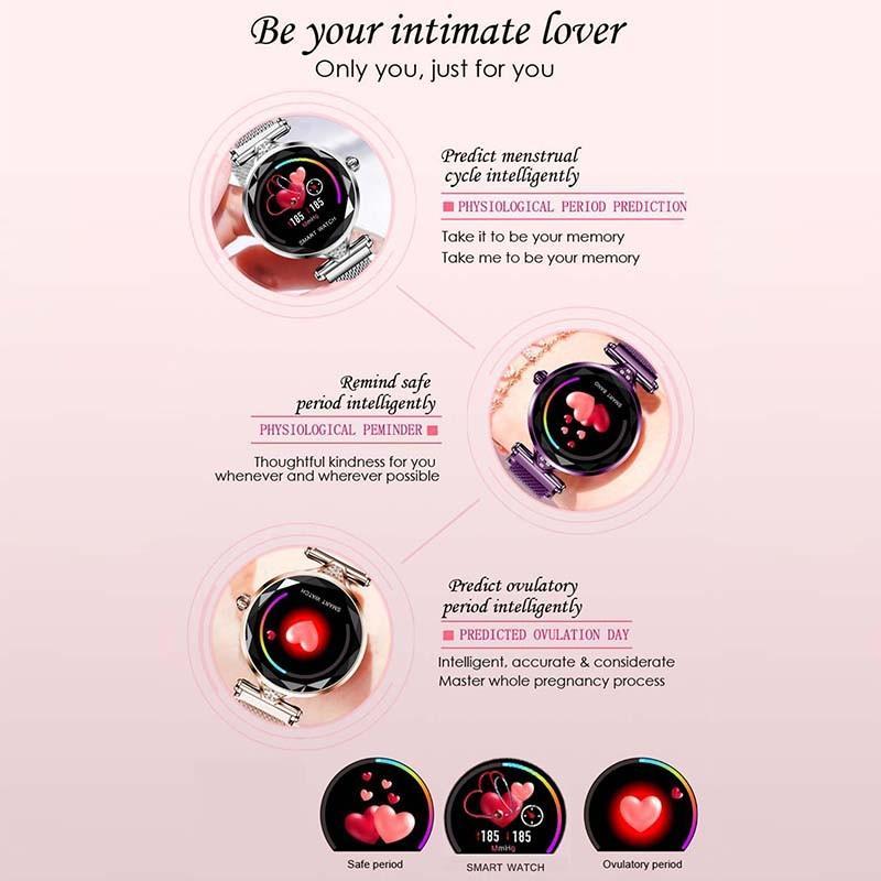H52ba7851ae2e4ea39dff40449c5faff9B 2021 Fashion Smart Watch Women IP68 waterproof Multi-sports modes Pedometer Heart Rate smartwatch Fitness Bracelet for Lady Gift