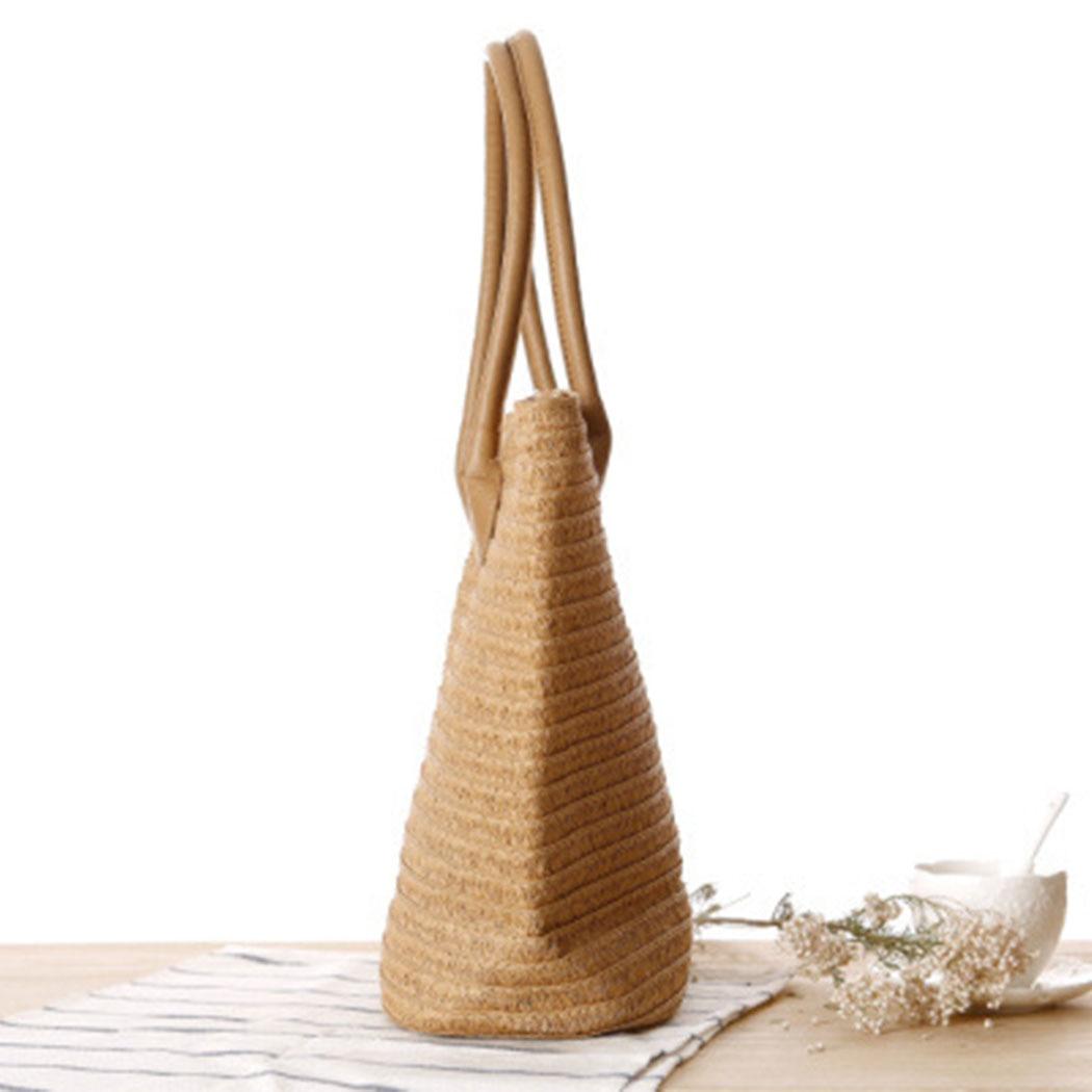 Women Handbag Summer Beach Bag Rattan Woven Handmade Knitted Straw Large Capacity Totes Women Shoulder Bag Bohemia 2019 New 2