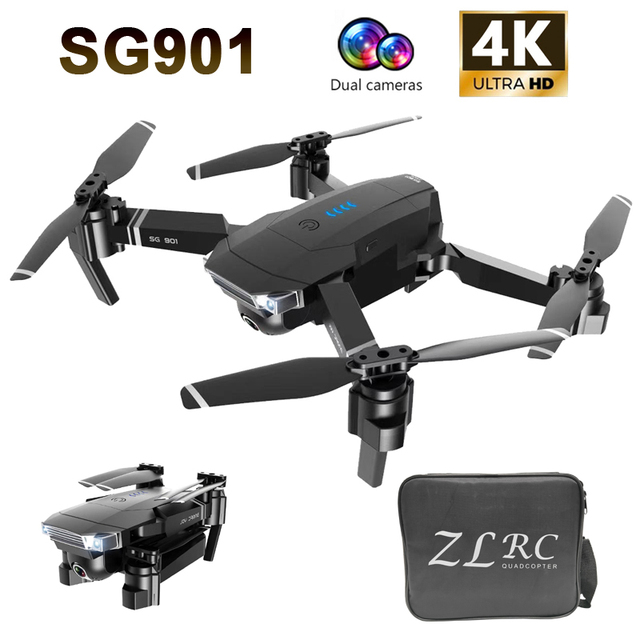 $ US $49.28 Drone SG901 4K drone HD dual camera WiFi transmission fpv optical flow 20mins long flight time Rc helicopter drone camera dron