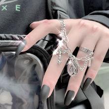 Женское кольцо в стиле «хип хоп» ювелирное изделие гранж цепь