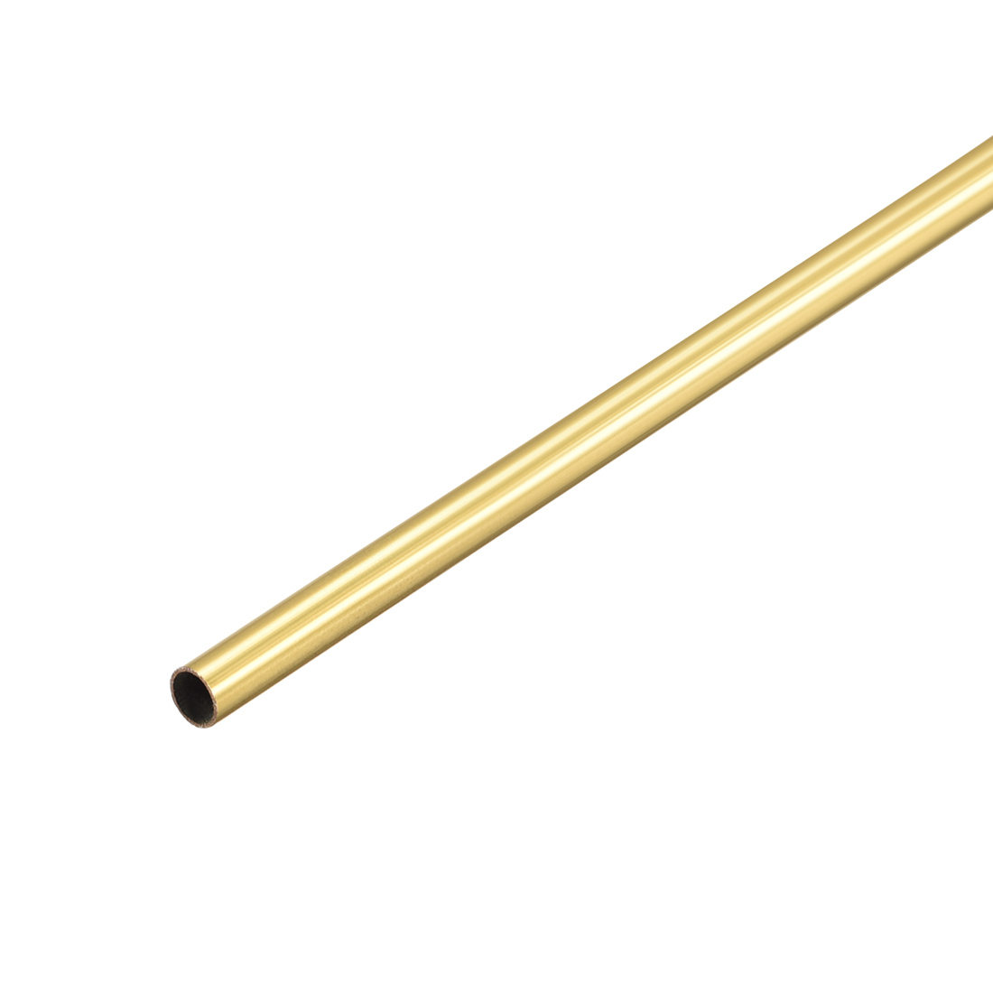 Uxcell Brass Round Tube 300mm Length 2.5mm OD 0.2mm Wall Thickness Seamless Straight Pipe Tubing