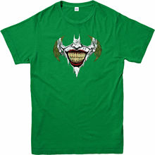 Batman T-Shirt,Batman Logo Joker Mouth,Adult And Kids Sizes