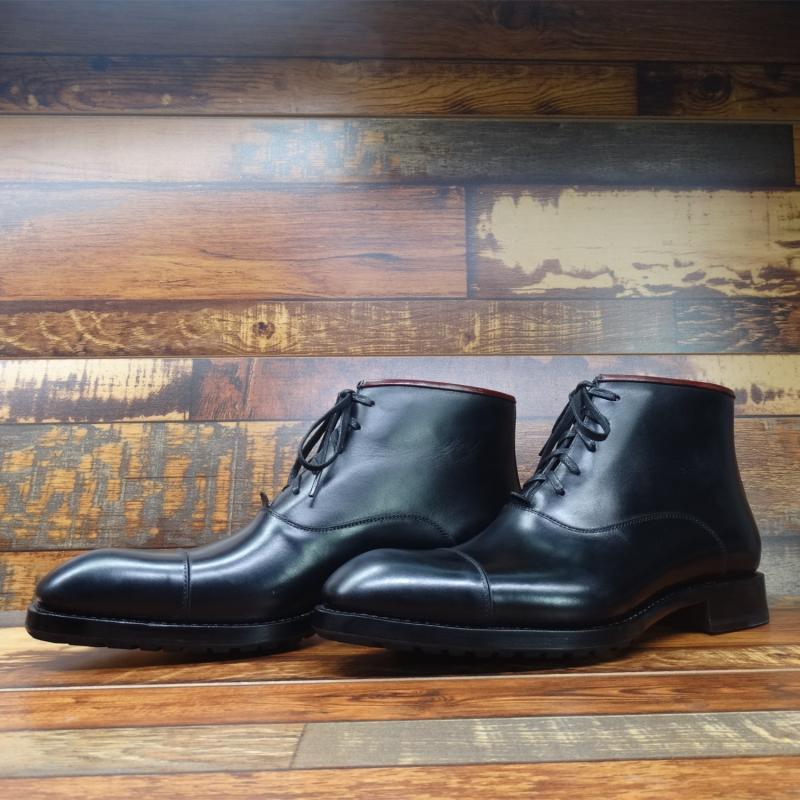 Sipriks/черные модельные ботинки из натуральной кожи для мужчин; модные итальянские Прошитые сапоги с рантом; ботинки оксфорды с закрытым носком; Рабочая обувь - 4