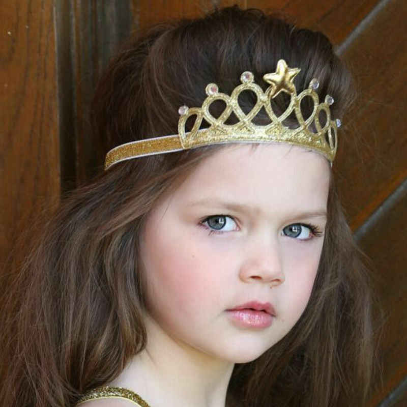 EE/_ AM/_ LC/_ 3Pcs Crown Hairband Kid Girls Hair Decor Headband Birthday Party Too
