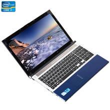 15,6 pulgadas Intel Core i7 8GB RAM 256GB SSD 500GB HDD 1920*1080P FHD pantalla DVD RW sistema Windows 7/10 PC de juegos portátil